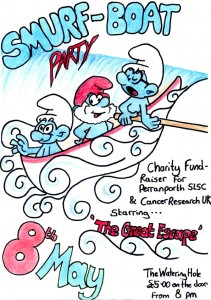 Smurf Boat Party Poster-1
